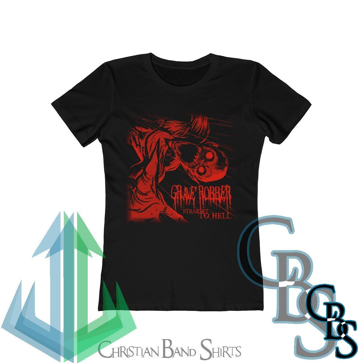 Grave Robber – Straight To Hell  (Red) Women's Tshirt