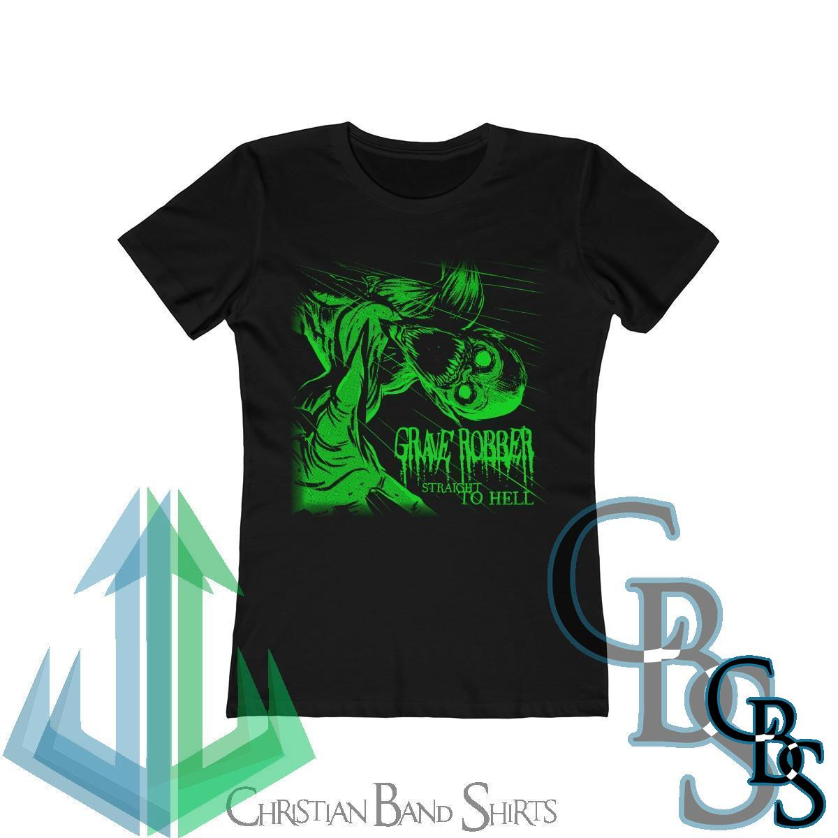 Grave Robber – Straight To Hell  (Green) Women's Tshirt