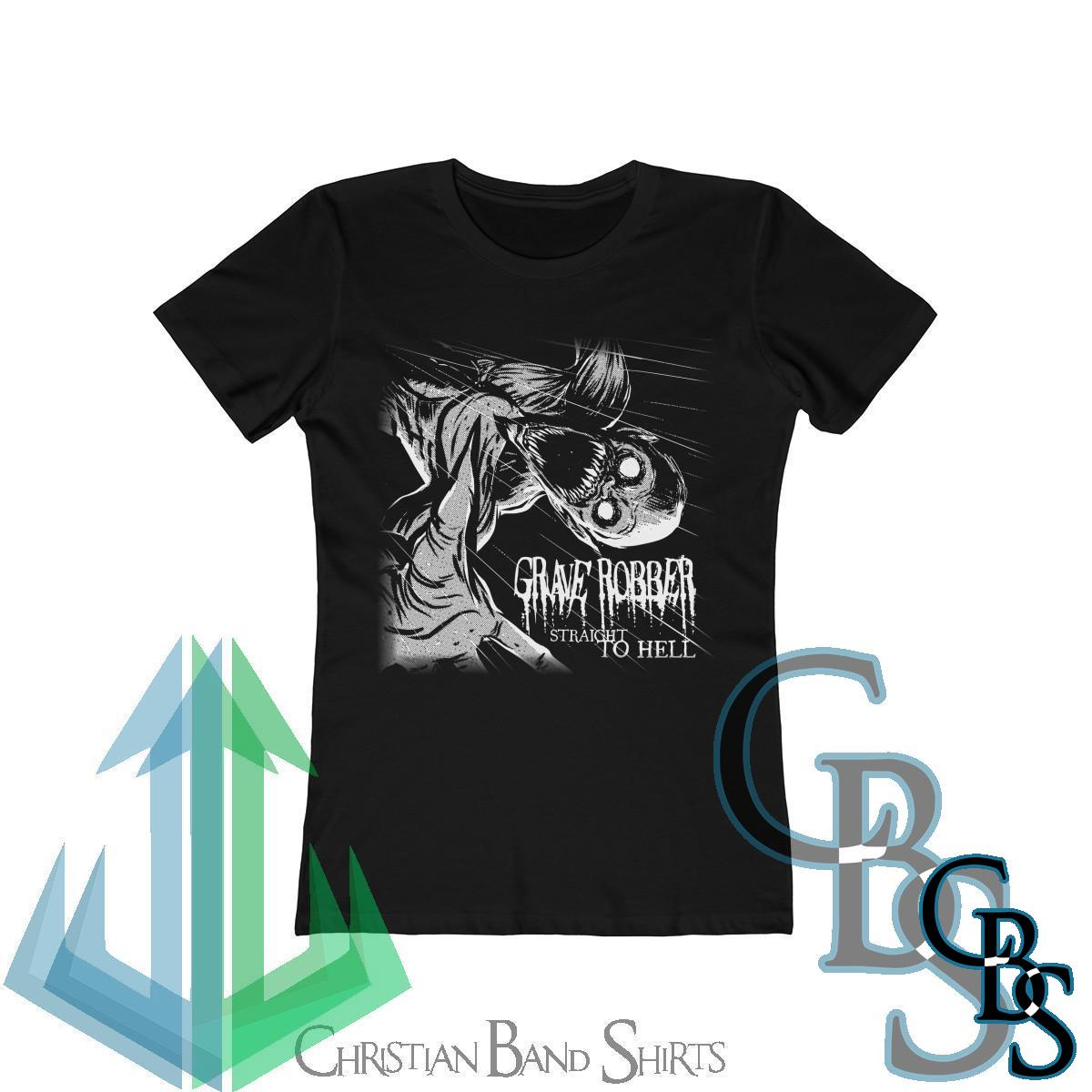 Grave Robber – Straight To Hell  (White) Women's Tshirt