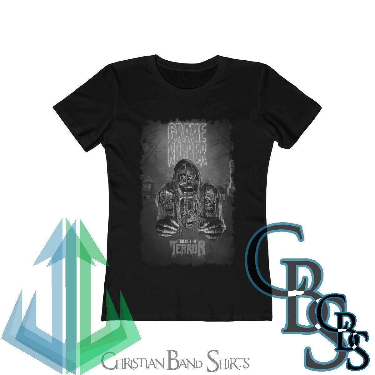 Grave Robber Trilogy of Terror (Limited Edition Black and White) Women's Short Sleeve Tshirt