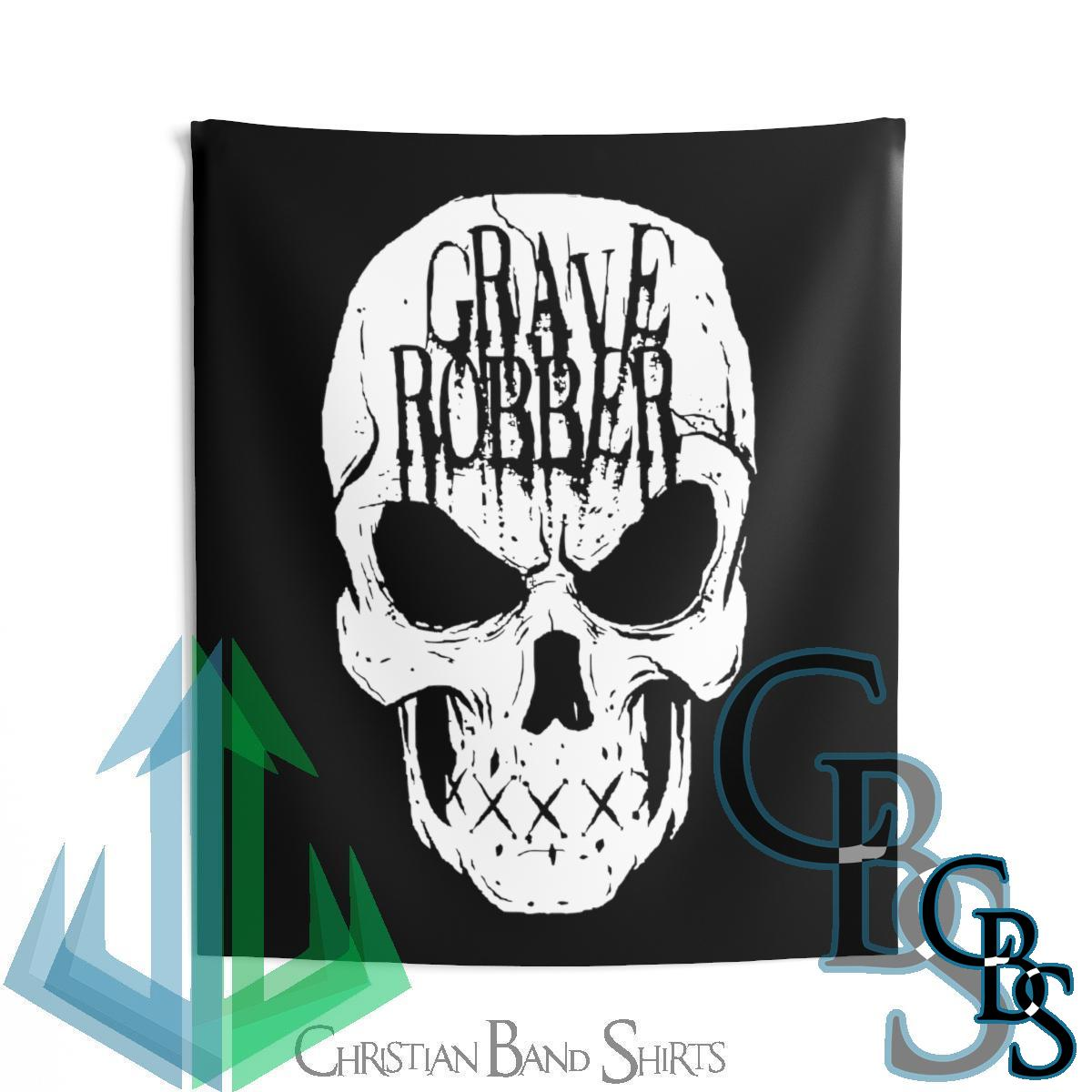 Grave Robber Skull Indoor Wall Tapestries