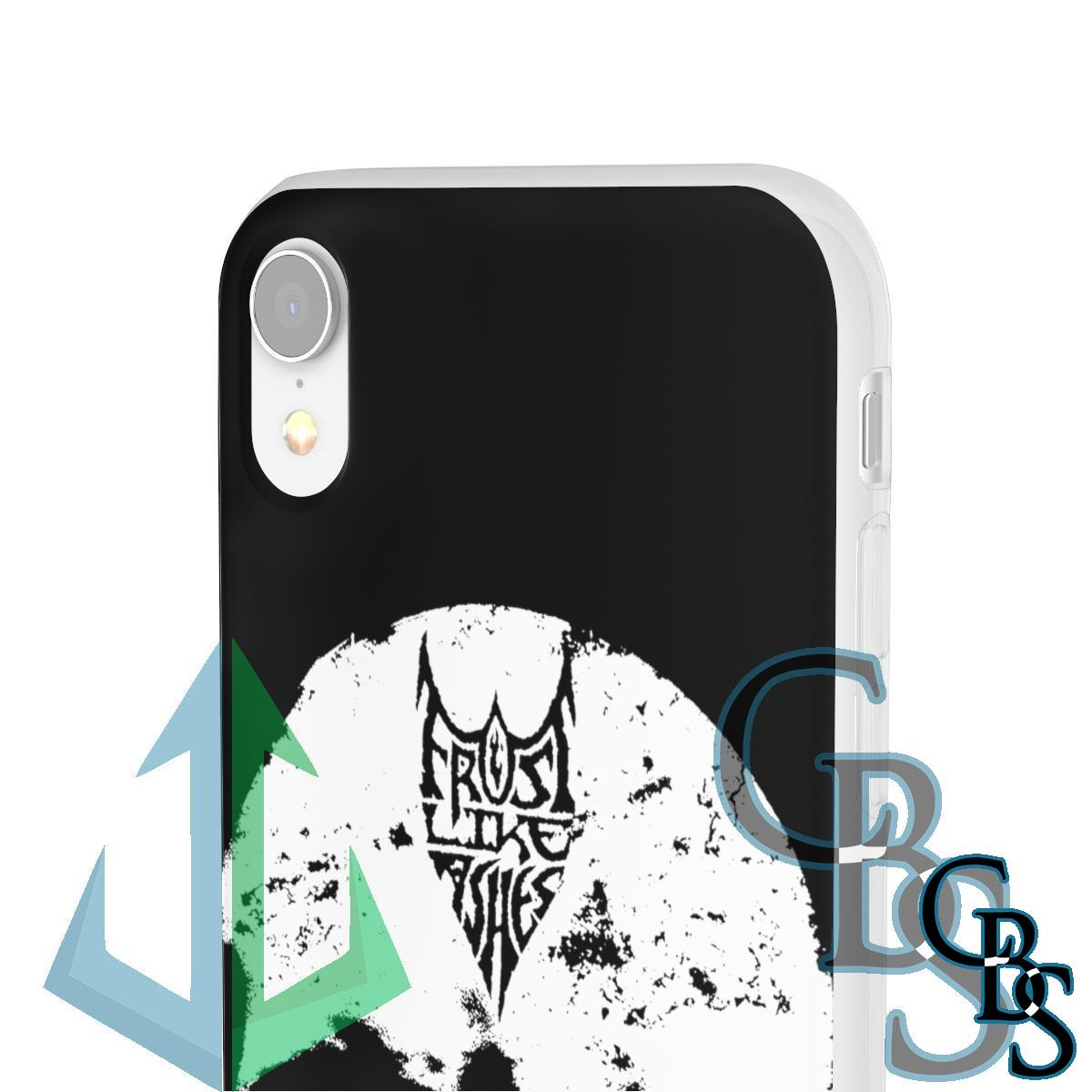 Frost Like Ashes Skull Clear Edge TPU Phone Cases