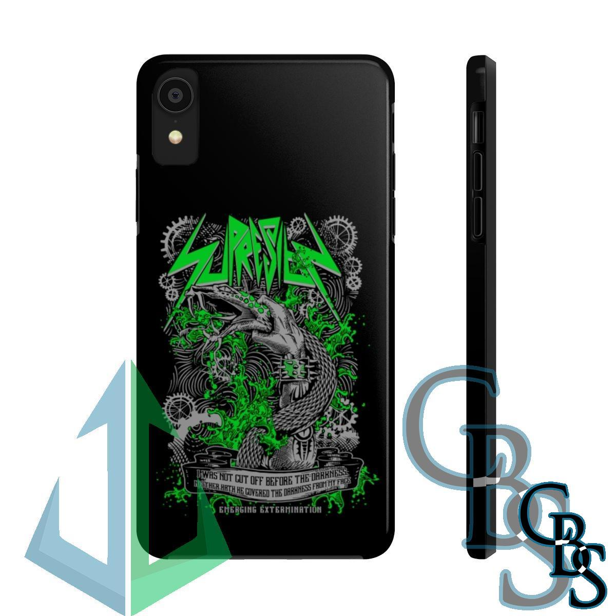 Supresion Serpent (Green) iPhone Cases (iPhone 7/7 Plus, iPhone 8/8 Plus, iPhone X, XS, XR, iPhone 11, 11 Pro, 11 Pro Max)