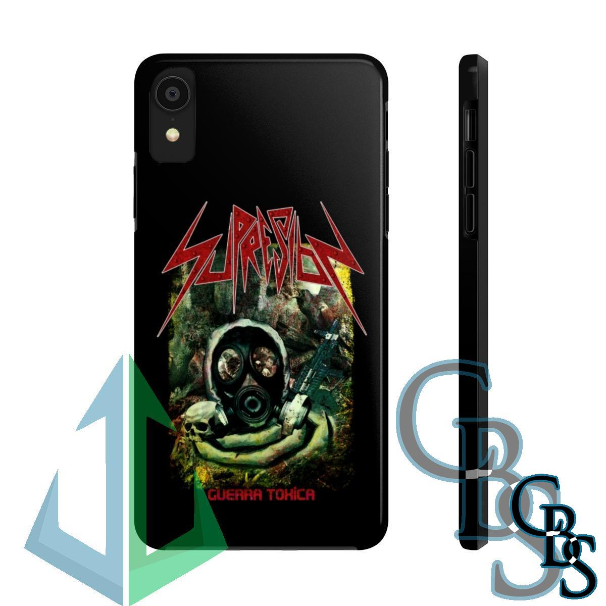 Supresion – Guerra Toxica iPhone Cases (iPhone 7/7 Plus, iPhone 8/8 Plus, iPhone X, XS, XR, iPhone 11, 11 Pro, 11 Pro Max)