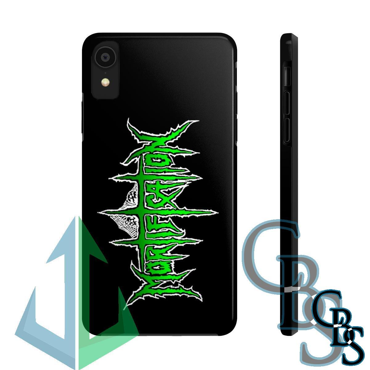 Mortification Green Logo iPhone Cases (iPhone 7/7 Plus, iPhone 8/8 Plus, iPhone X, XS, XR, iPhone 11, 11 Pro, 11 Pro Max)