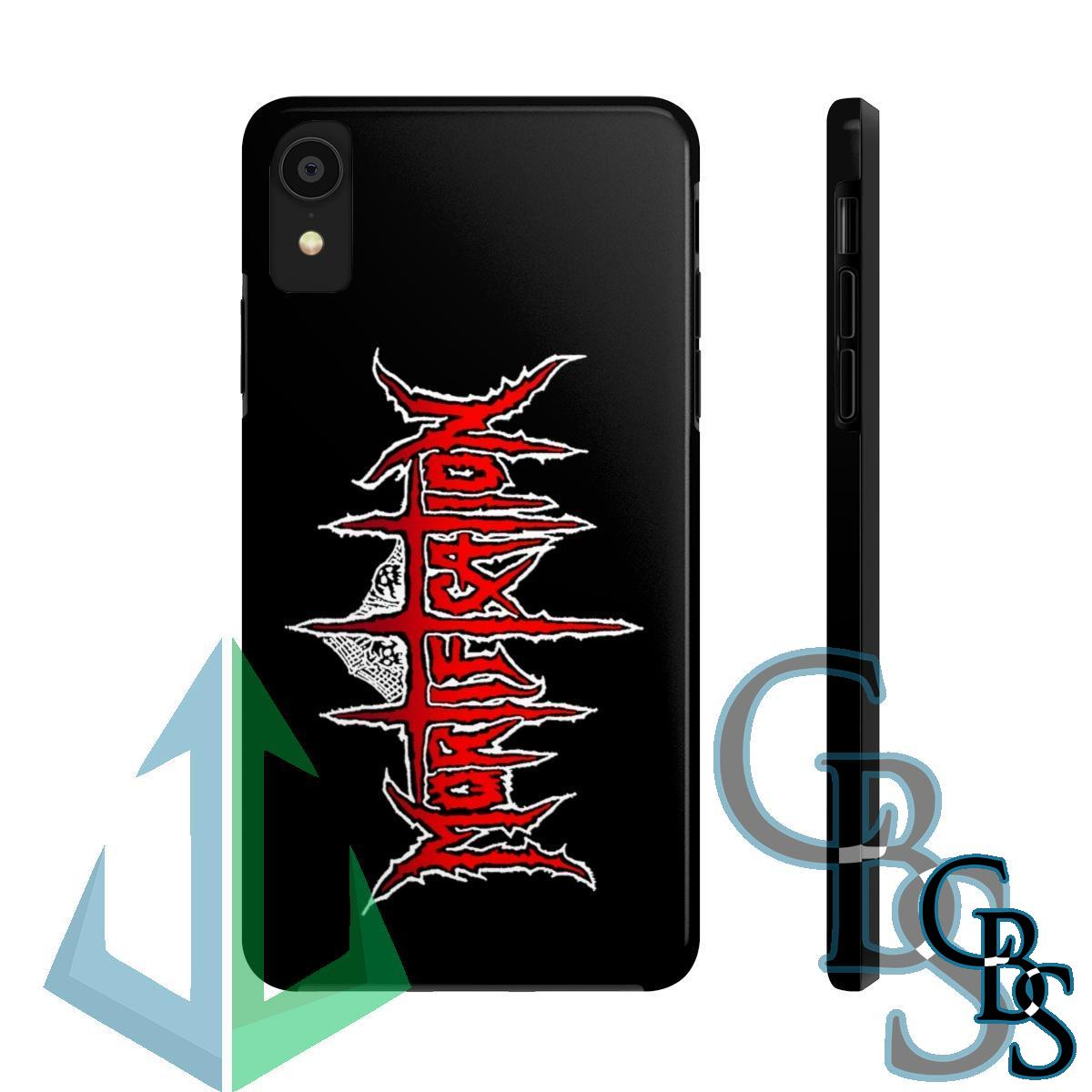 Mortification Red Logo iPhone Cases (iPhone 7/7 Plus, iPhone 8/8 Plus, iPhone X, XS, XR, iPhone 11, 11 Pro, 11 Pro Max)