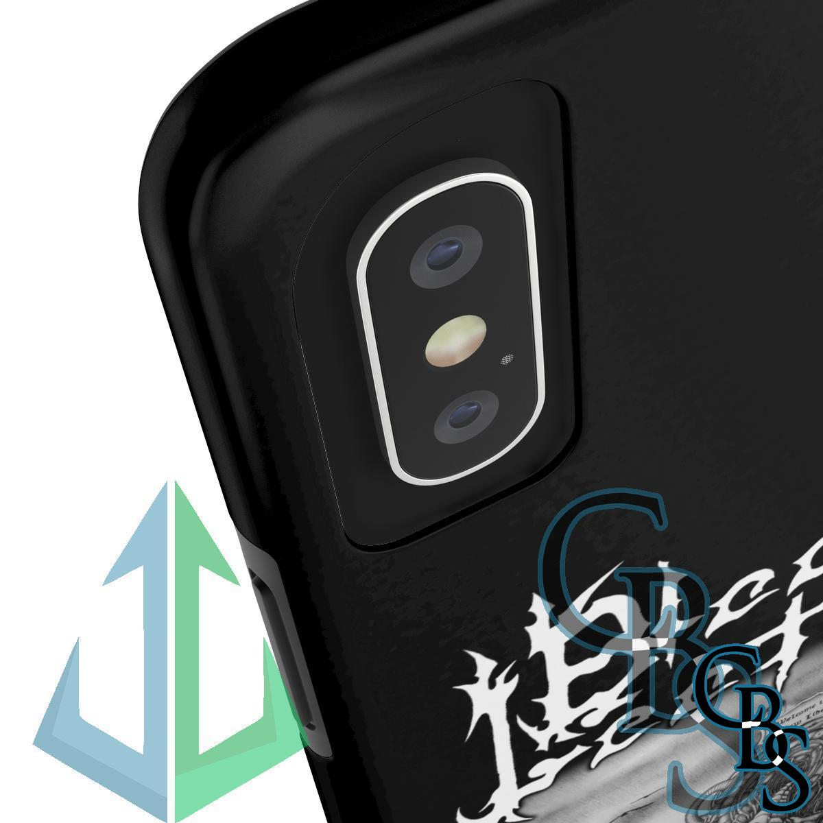 Black Leather Tough iPhone Cases