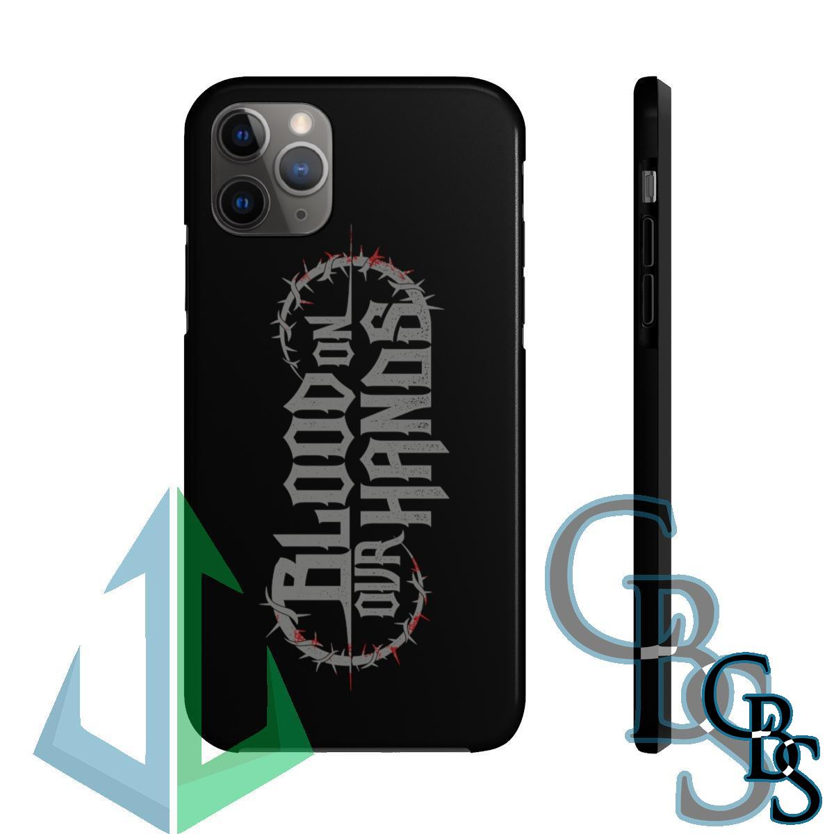 Blood on Our Hands (Meltdown) Tough iPhone Cases (iPhone 7/7 Plus, iPhone 8/8 Plus, iPhone X, XS, XR, iPhone 11, 11 Pro, 11 Pro Max)