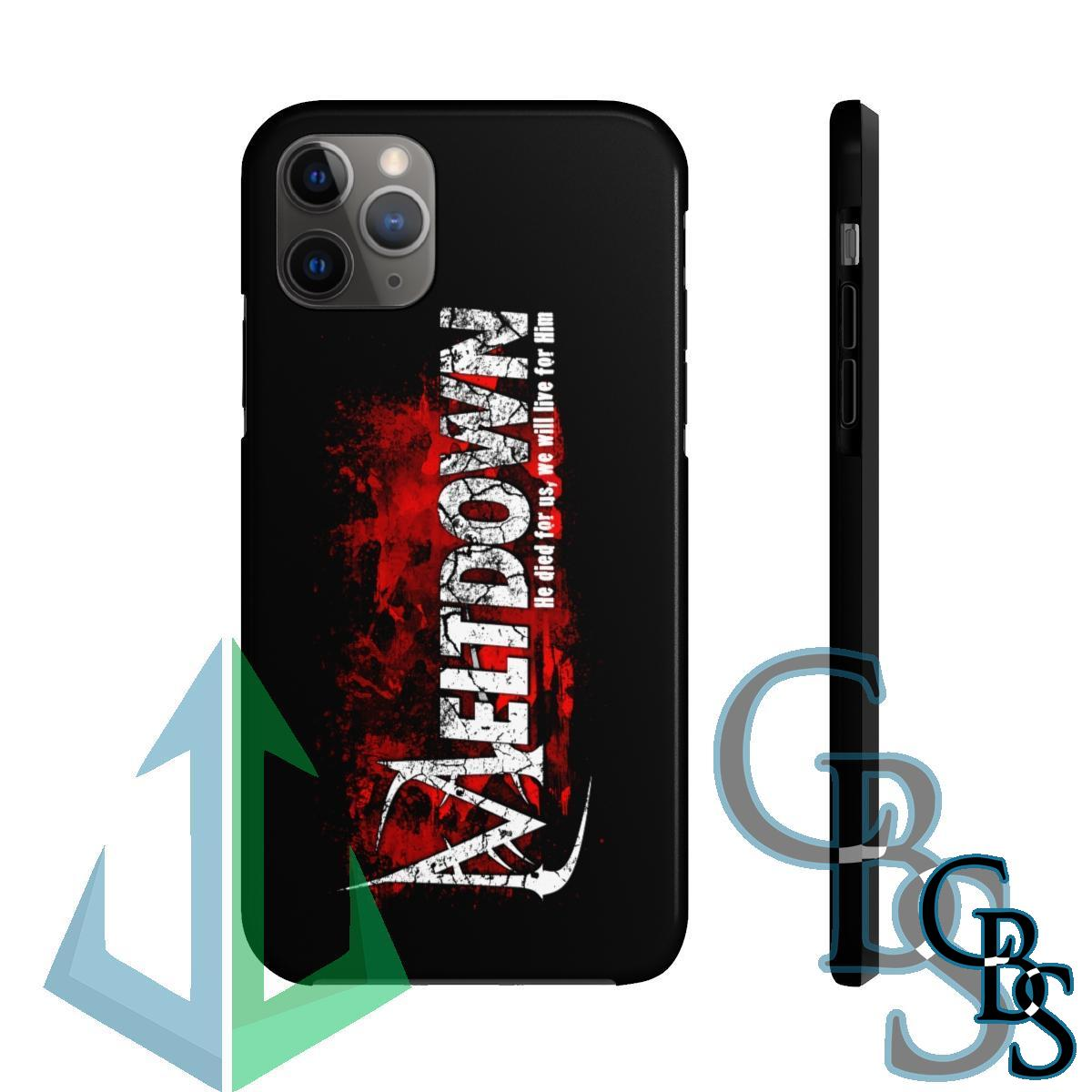 Meltdown He Died For Us Tough iPhone Cases (iPhone 7/7 Plus, iPhone 8/8 Plus, iPhone X, XS, XR, iPhone 11, 11 Pro, 11 Pro Max)