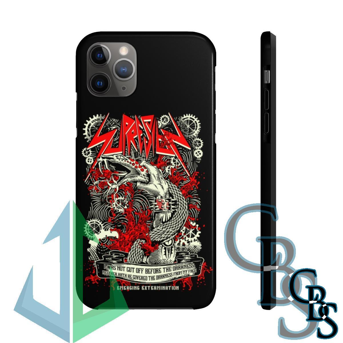 Supresion Serpent (Red) iPhone Cases (iPhone 7/7 Plus, iPhone 8/8 Plus, iPhone X, XS, XR, iPhone 11, 11 Pro, 11 Pro Max)