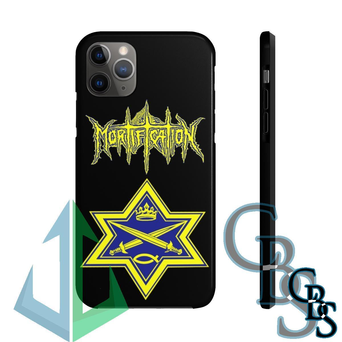 Mortification Logo and Star iPhone Cases (iPhone 7/7 Plus, iPhone 8/8 Plus, iPhone X, XS, XR, iPhone 11, 11 Pro, 11 Pro Max)