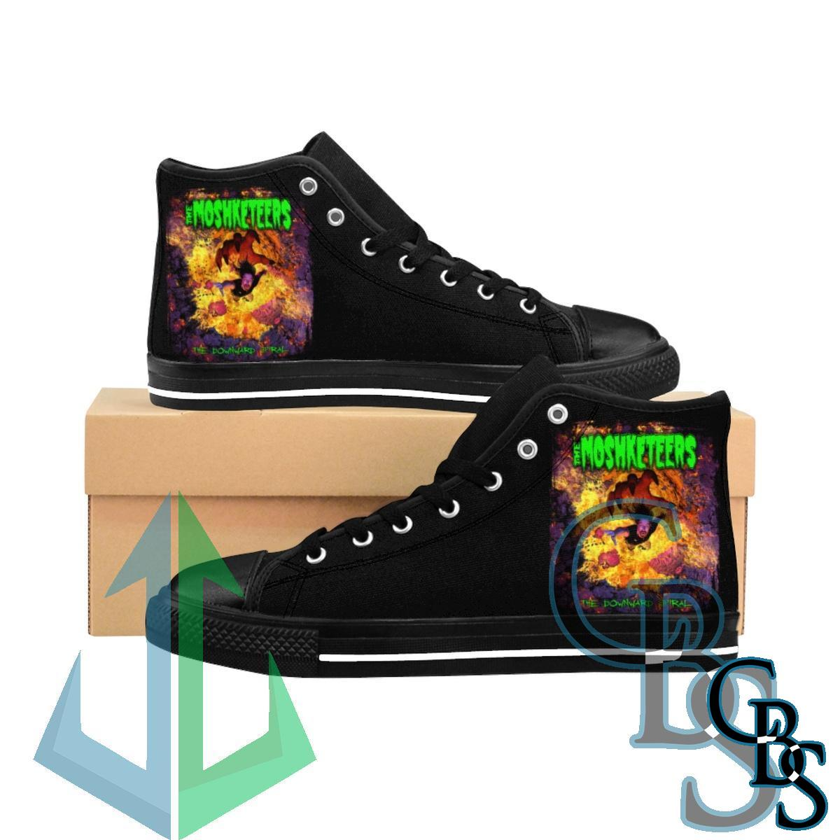 The Mosketeers – The Downward Spiral Men's High-top Sneakers
