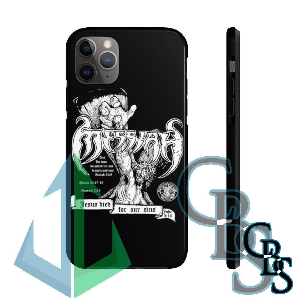 Metal Bible Support Messiah Tough iPhone Cases
