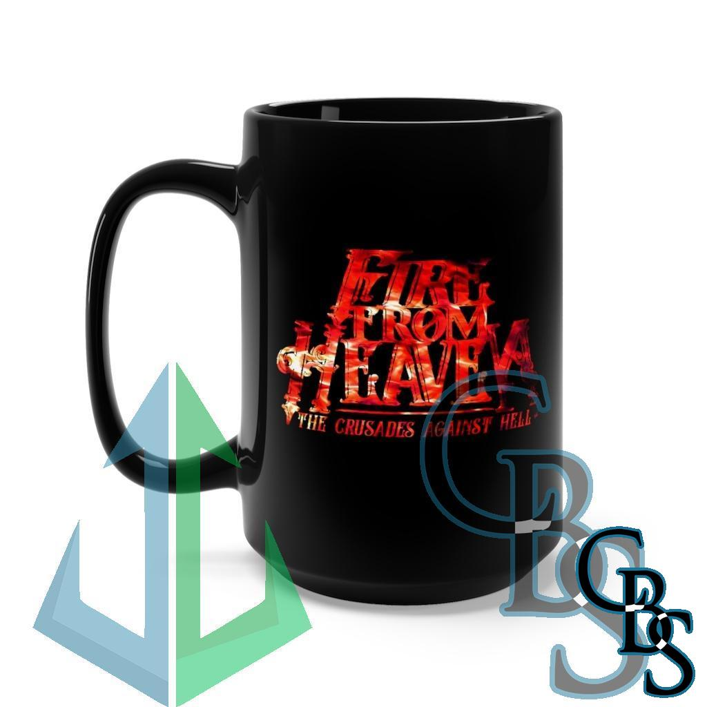 Fire From Heaven The Crusades From Heaven Red Fire Black Mug 15oz