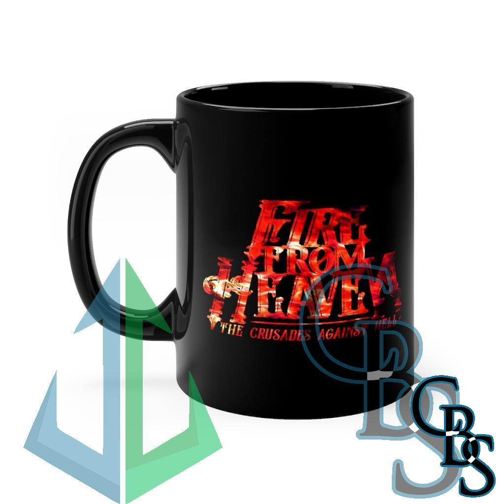 Fire From Heaven – The Crusades Against Hell Red Fire Black mug 11oz