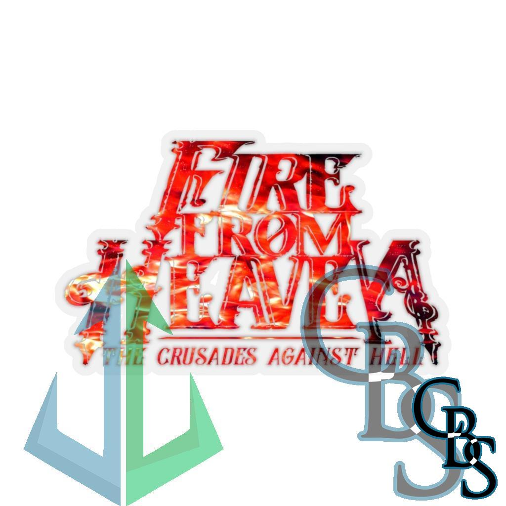 Fire From Heaven Crusades Red Fire Logo Die Cut Stickers