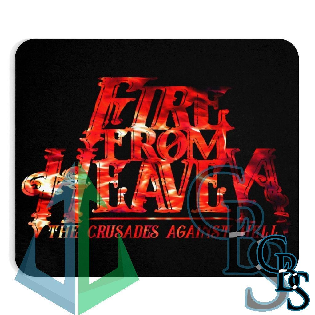 Fire From Heaven Crusade Logo Fire Red Mouse Pad