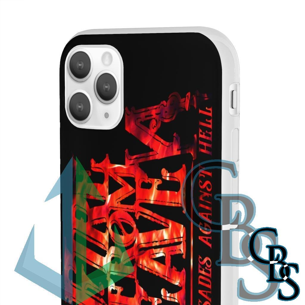 Fire From Heaven Crusades Red Fire Logo Clear Edge TPU Case for Samsung S10 and iPhone 7 thru Iphone 11 Pro Max