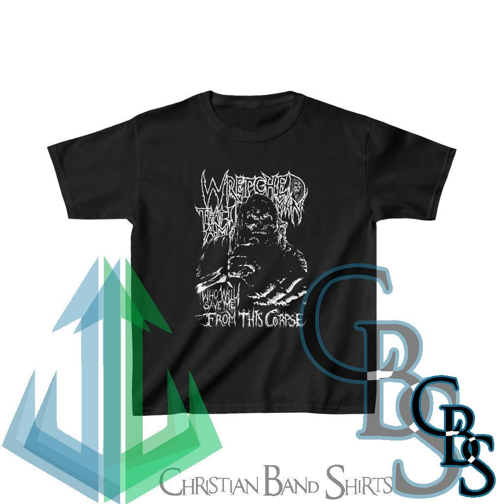 Wretched Graverobber Who Will Save Me Kids Heavy Cotton Tshirt
