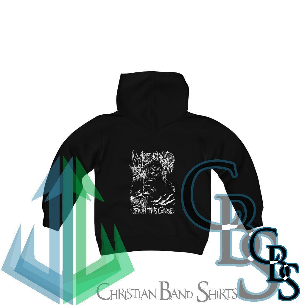 Wretched Graverobber Who Will Save Me Youth Heavy Blend Hooded Sweatshirt
