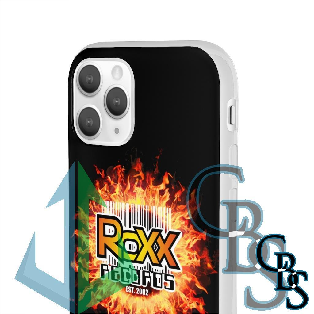 Roxx Records Fire Clear Edge TPU Case for Samsung S10 and iPhone 7 thru Iphone 11 Pro Max