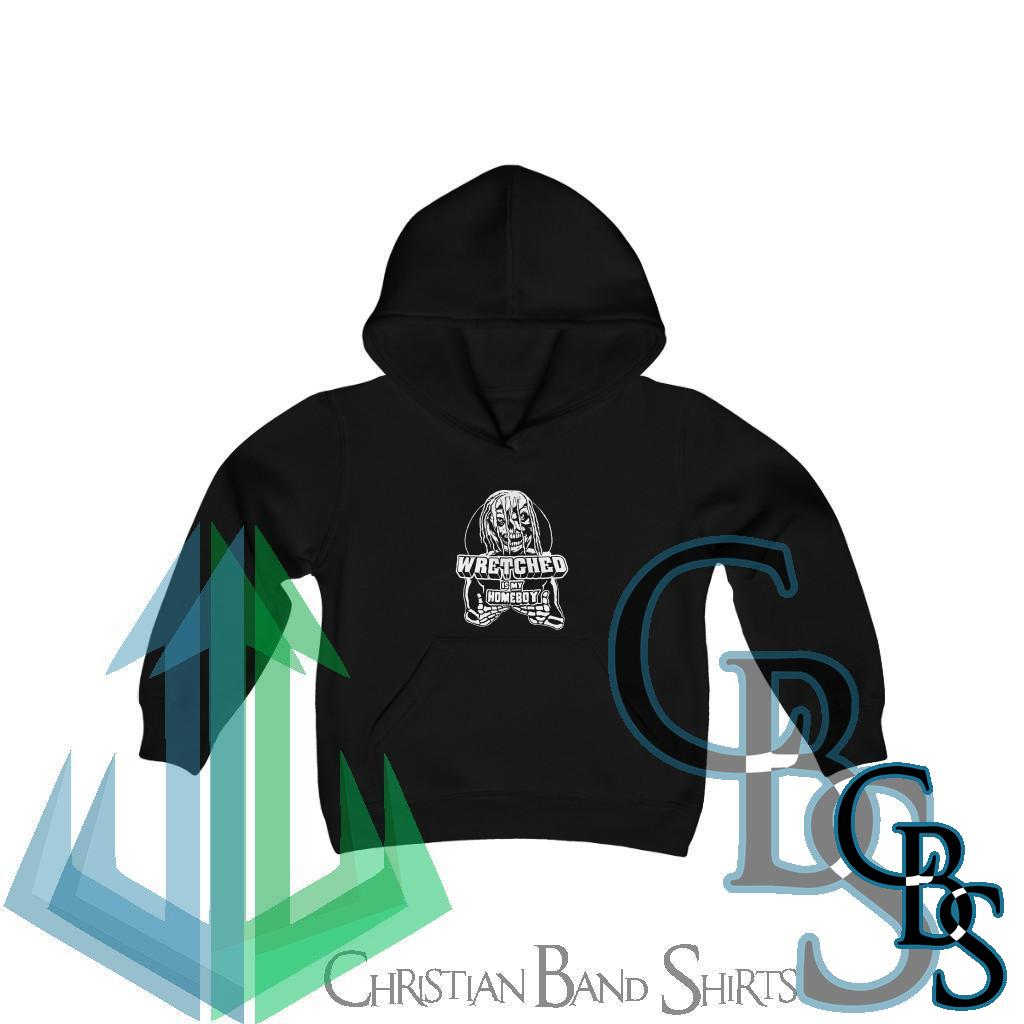 Wretched Graverobber Wretched Is My Homeboy Youth Heavy Blend Hooded Sweatshirt