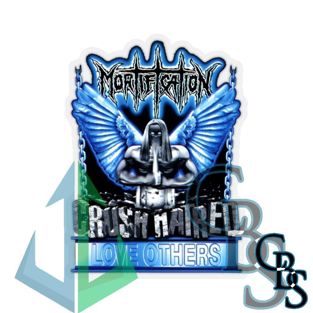 Mortification Crush Hatred Die Cut Stickers