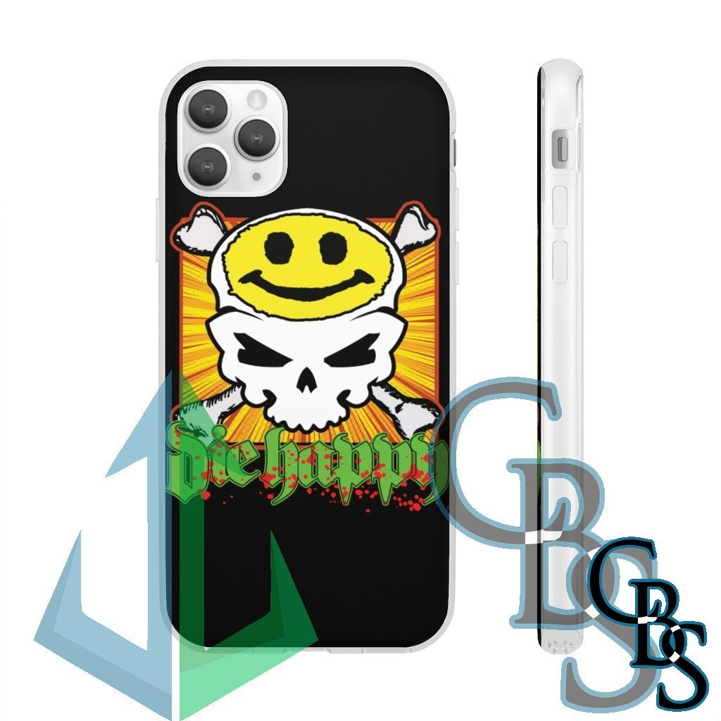 Die Happy Migraine Clear Edge TPU Case for Samsung S10 and iPhone 7 thru Iphone 11 Pro Max