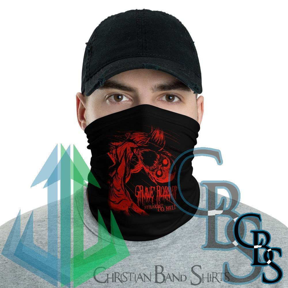 Grave Robber Straight to Hell (Red) Neck Gaiter Mask