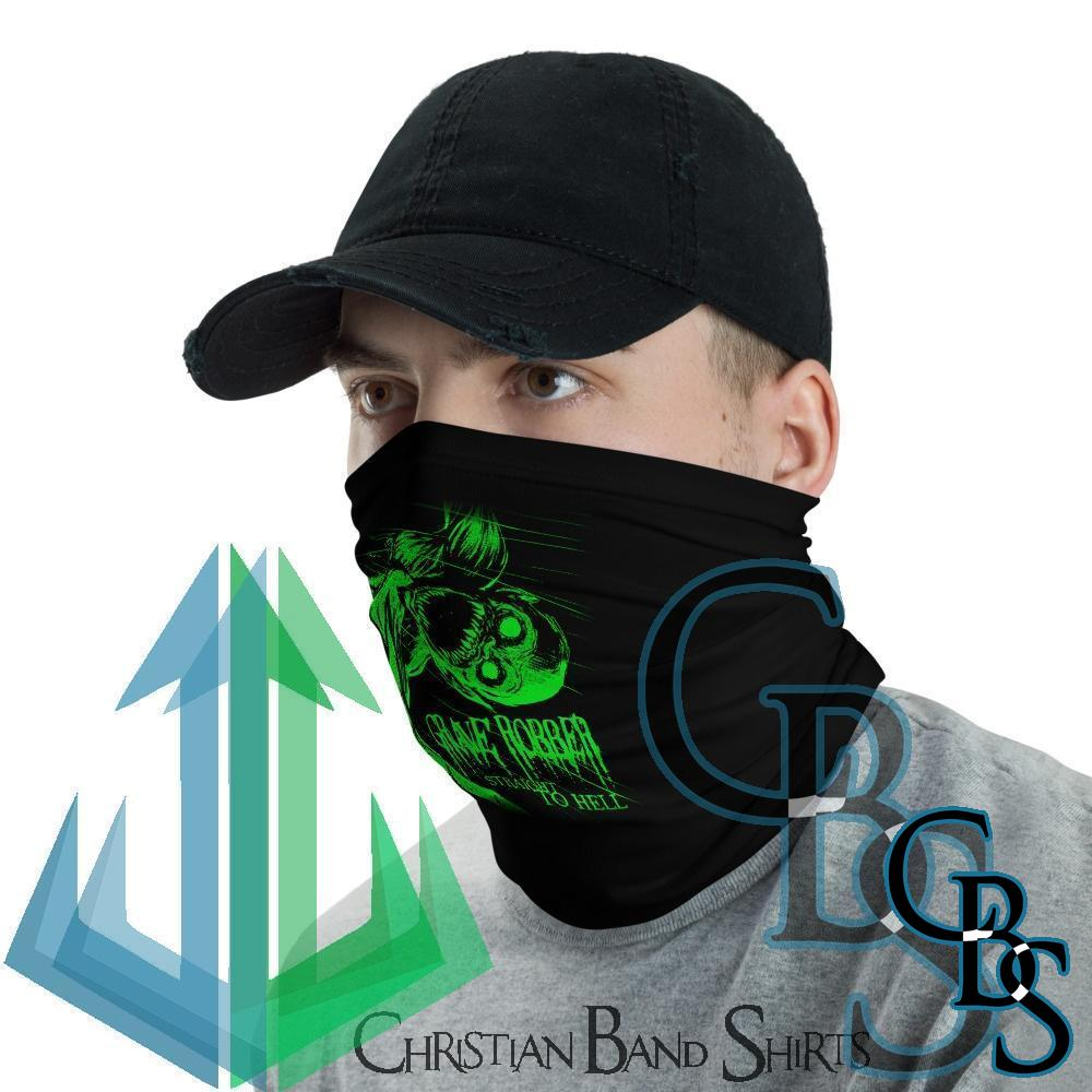 Grave Robber Straight to Hell (Green) Neck Gaiter Mask
