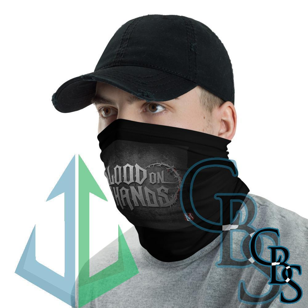 Blood On Our Hands Title Neck Gaiter Mask