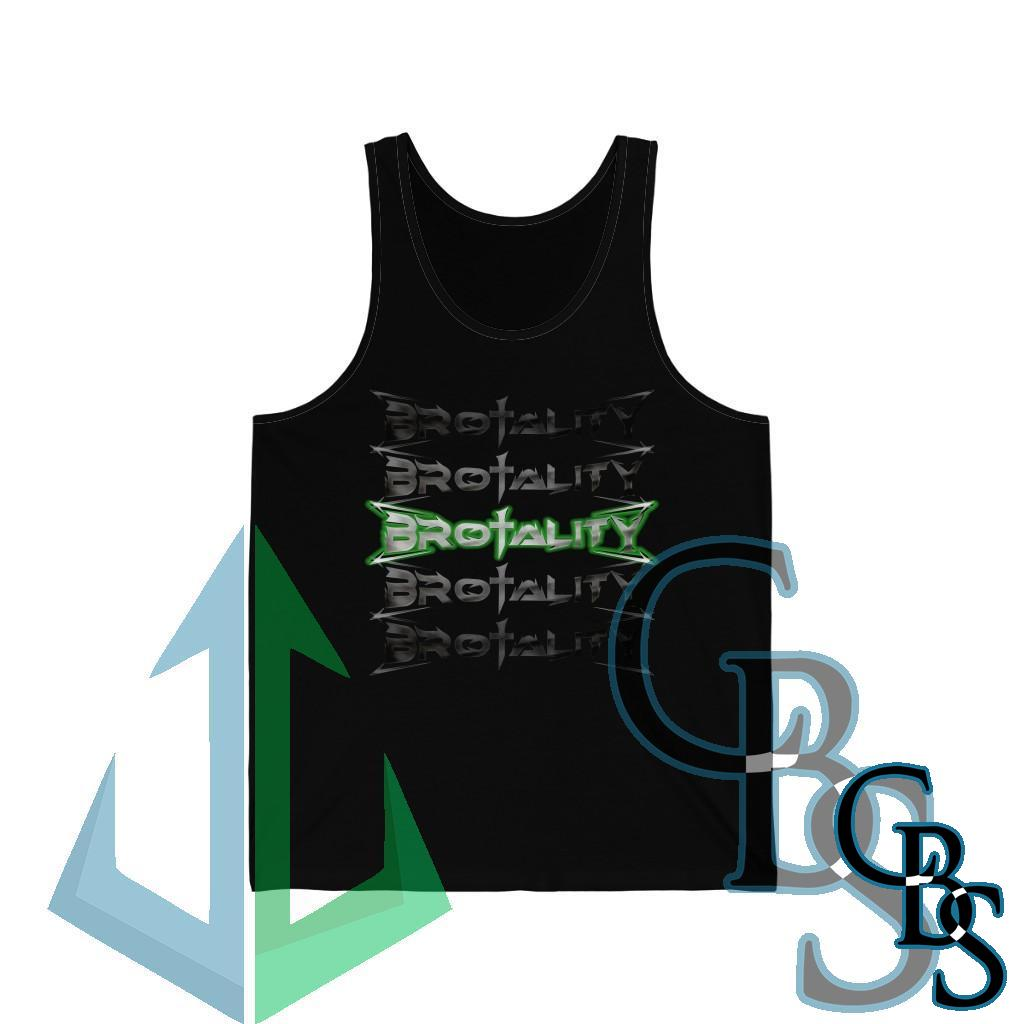 Brotality Stacked Logos Unisex Jersey Tank