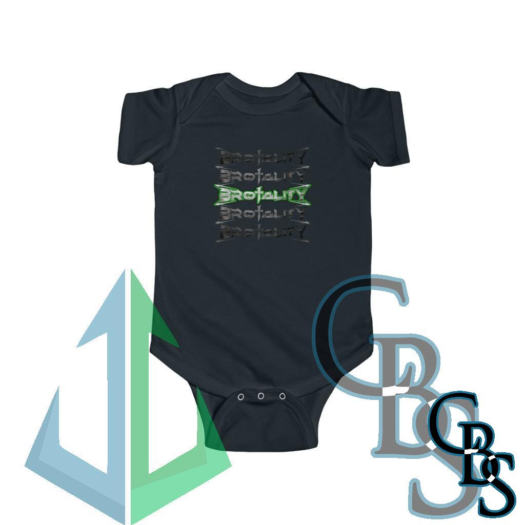 Brotality Stacked Logos Infant Jersey Bodysuit