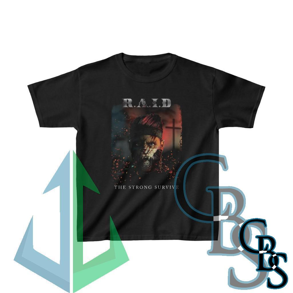R.A.I.D – The Strong Survive Kids Heavy Cotton Tshirt