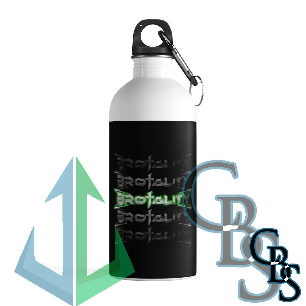 Brotality Stacked Logos Stainless Steel Water Bottle
