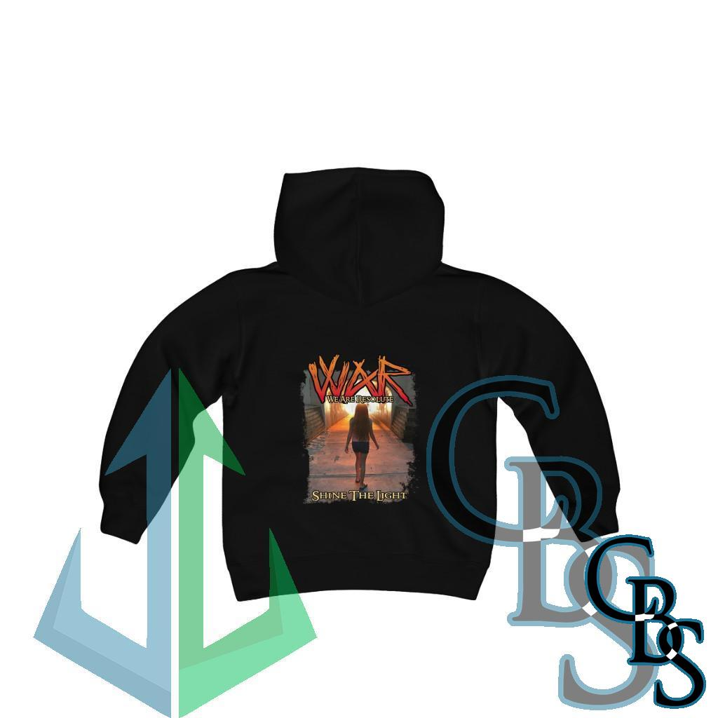 We Are Resolute – Shine The Light Youth Heavy Blend Hooded Sweatshirt
