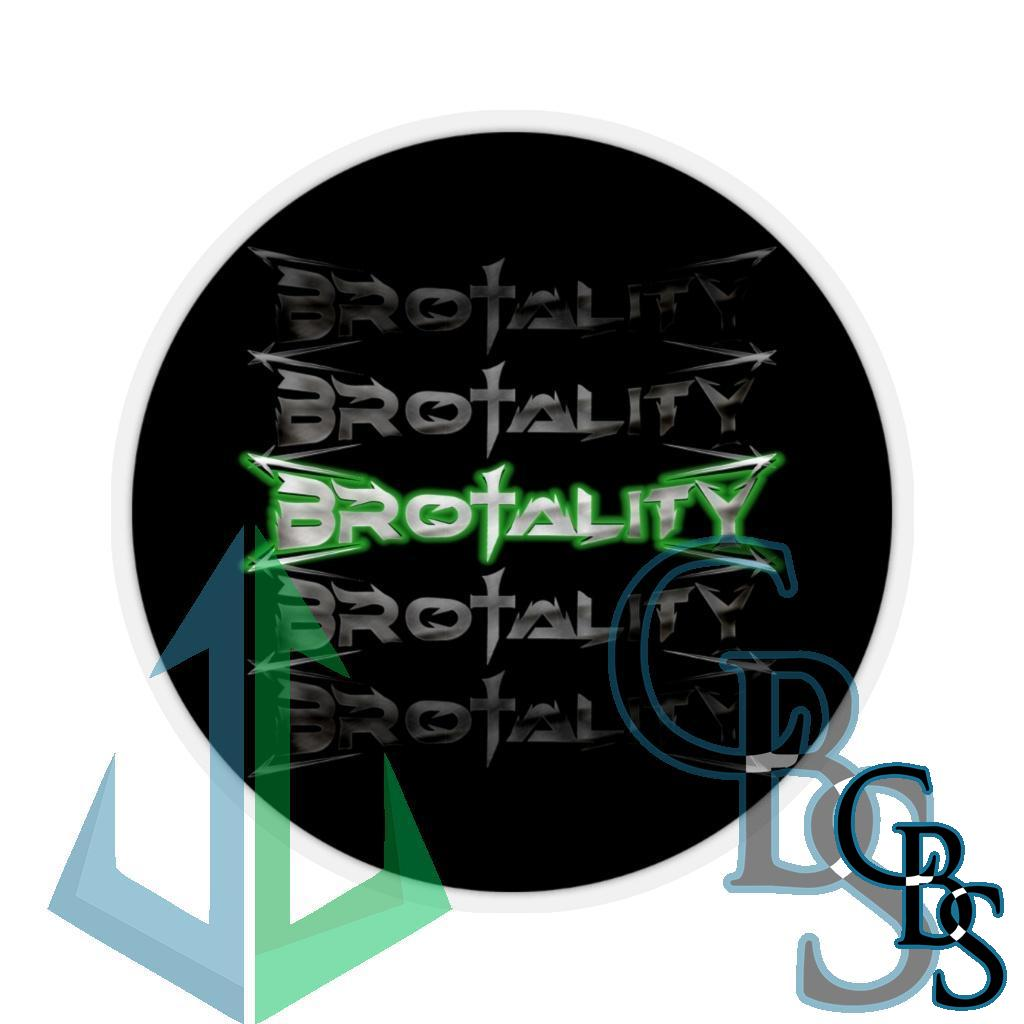 Brotality Stacked Logos Die Cut Stickers