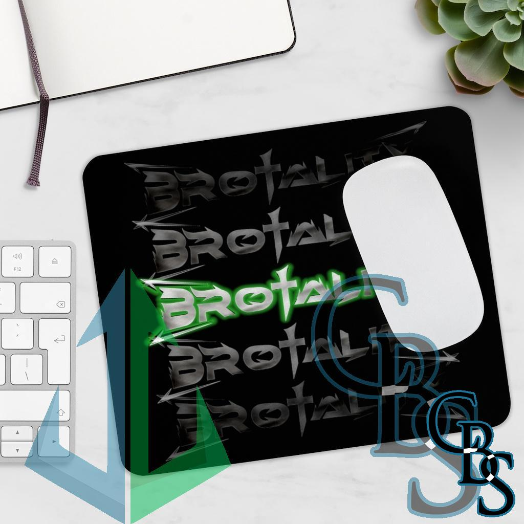 Brotality Stacked Logos Black Mouse Pad