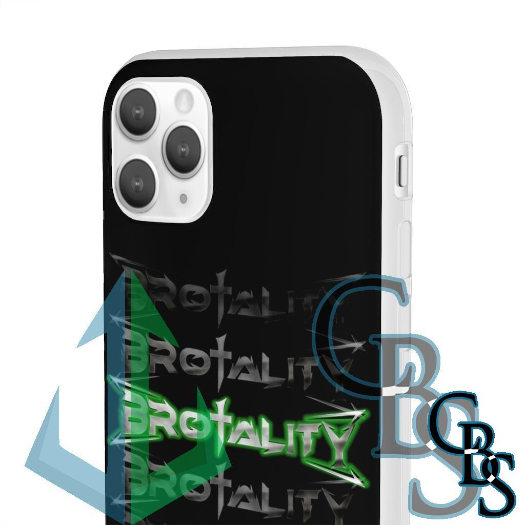 Brotality Stacked Logos Clear Edge TPU Case for Samsung S10 and iPhone 7 thru Iphone 11 Pro Max