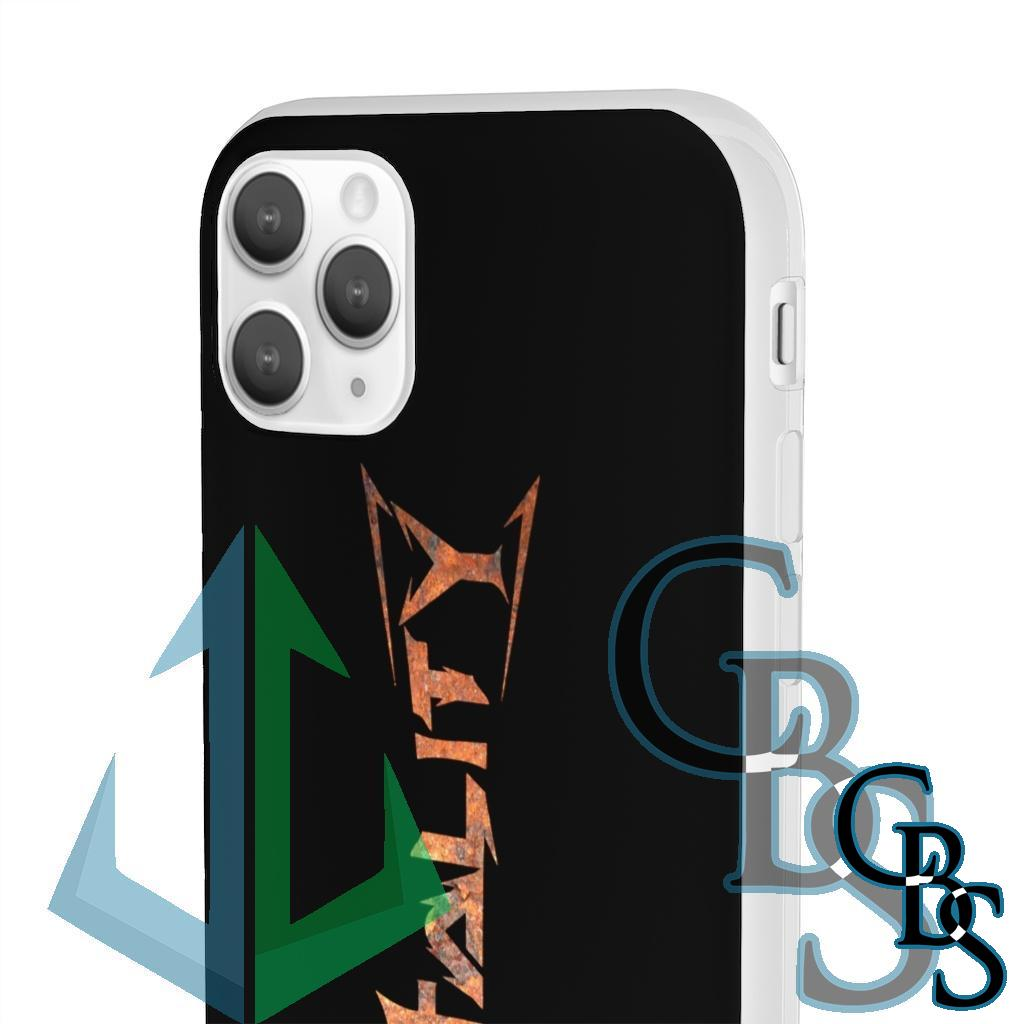 Brotality Rust Logo Clear Edge TPU Case for Samsung S10 and iPhone 7 thru Iphone 11 Pro Max