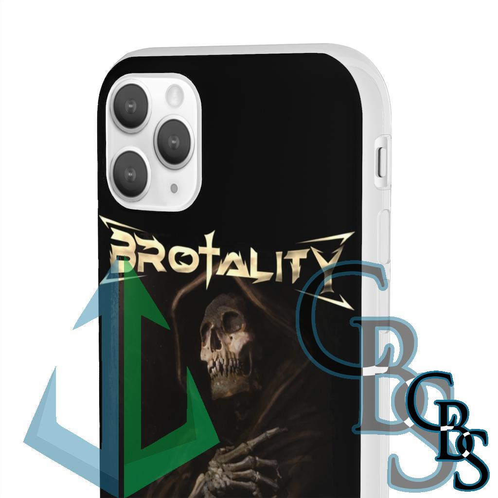 Brotality Reaper Clear Edge TPU Case for Samsung S10 and iPhone 7 thru Iphone 11 Pro Max