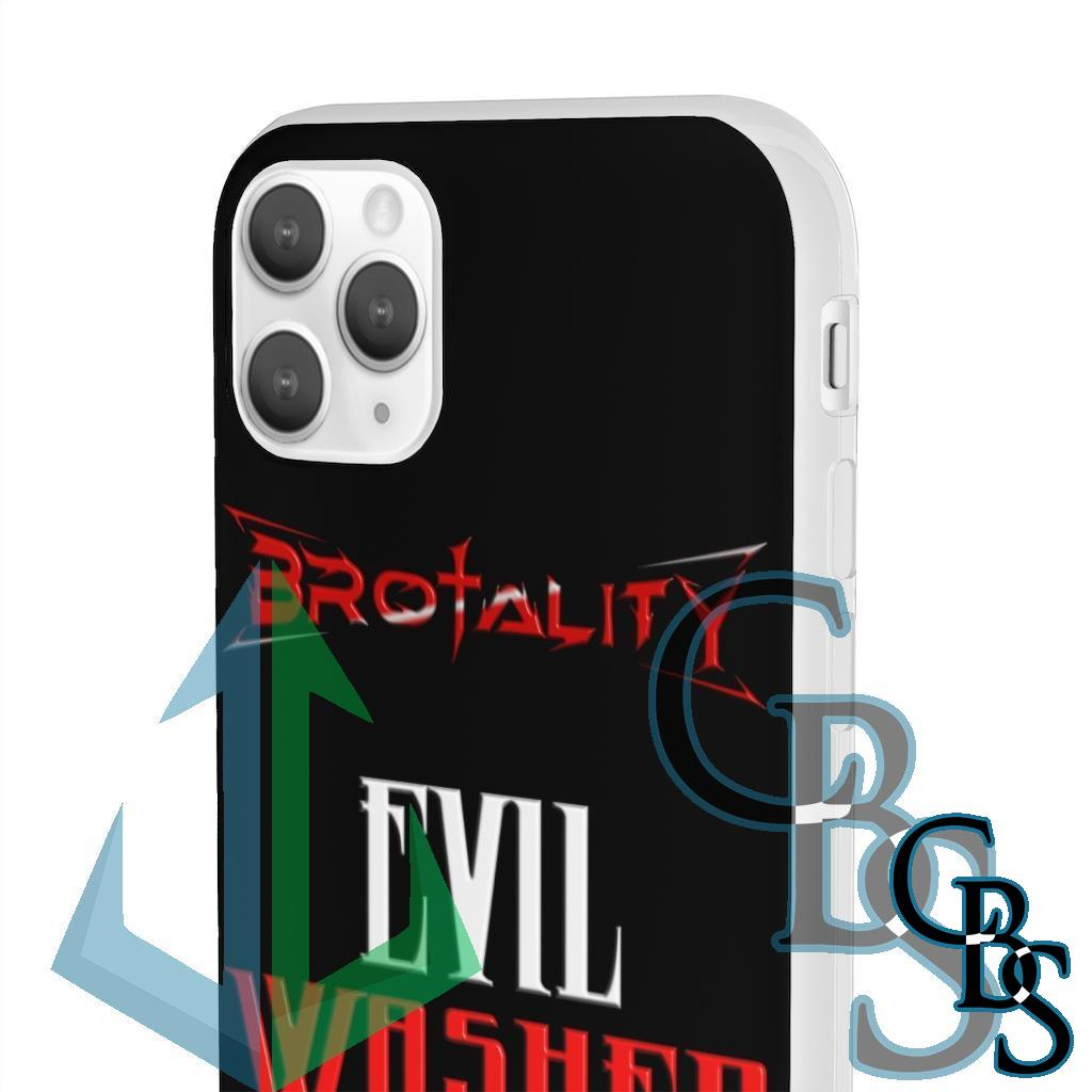 Brotality Evil Washed Away Clear Edge TPU Case for Samsung S10 and iPhone 7 thru Iphone 11 Pro Max