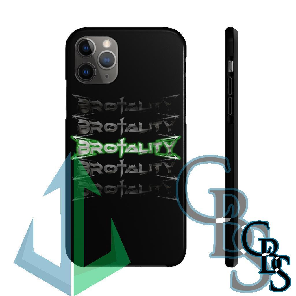Brotality Stacked Logos Tough iPhone Cases (iPhone 7/7 Plus, iPhone 8/8 Plus, iPhone X, XS, XR, iPhone 11, 11 Pro, 11 Pro Max)