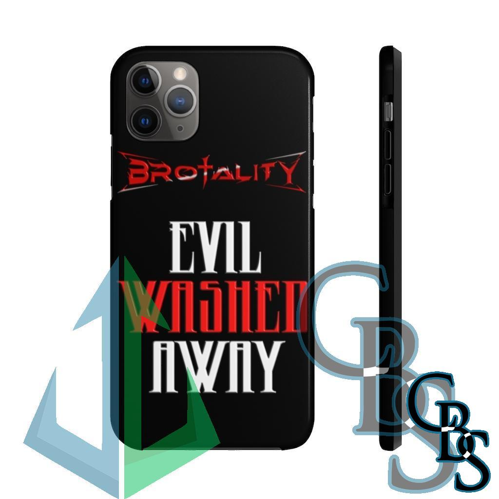 Brotality Evil Washed Away Tough iPhone Cases (iPhone 7/7 Plus, iPhone 8/8 Plus, iPhone X, XS, XR, iPhone 11, 11 Pro, 11 Pro Max)