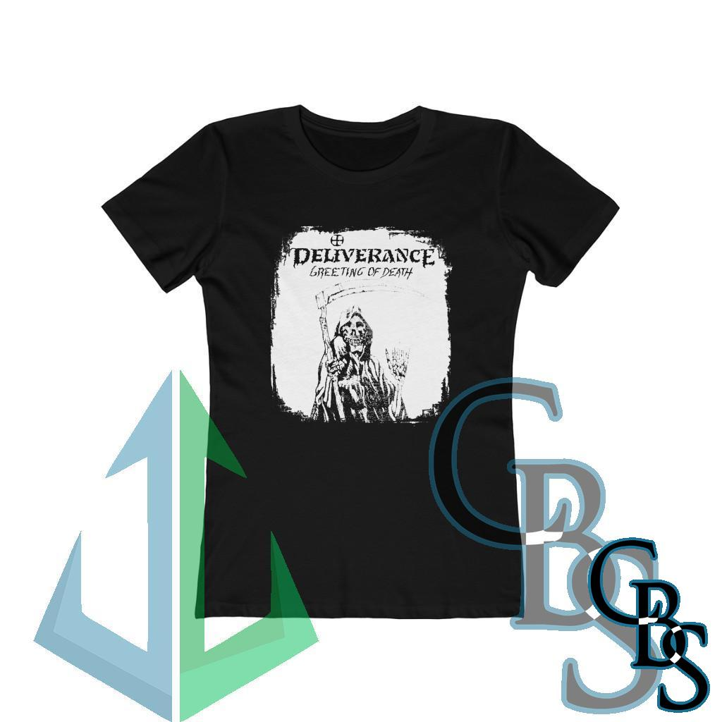 Deliverance – Greetings of Death Women's Short Sleeve Tshirt