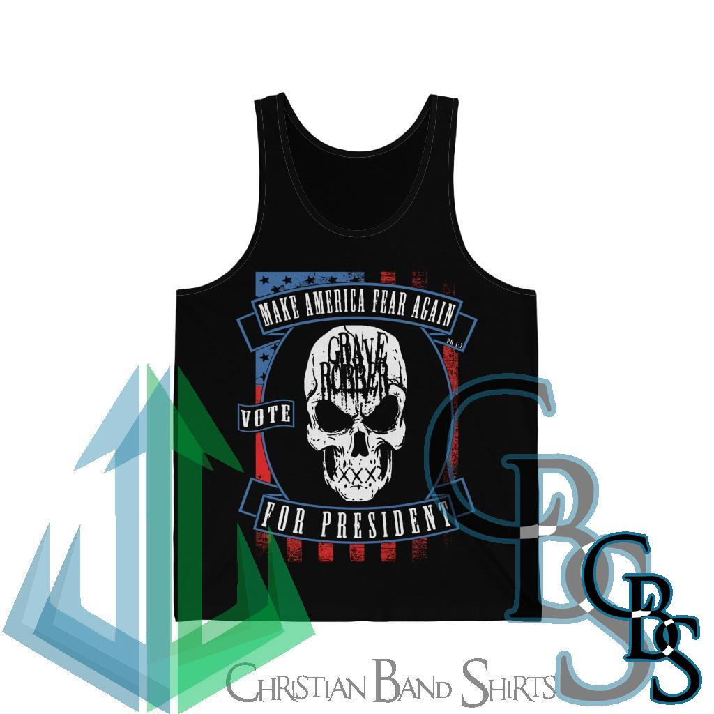 Grave Robber Make America Fear Again Jersey Tank Top