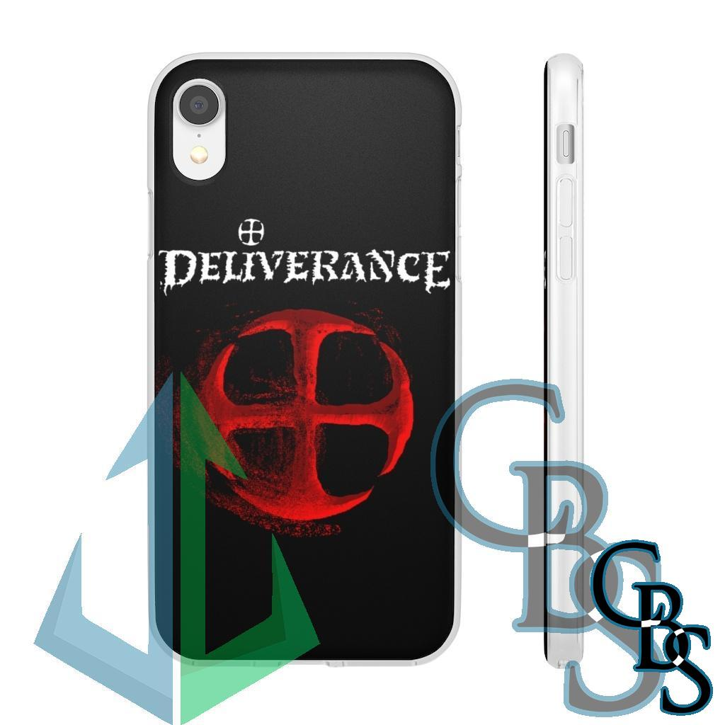 Deliverance Disintegrating Cross Clear Edge TPU Case for Samsung S10 and iPhone 7 thru Iphone 11 Pro Max