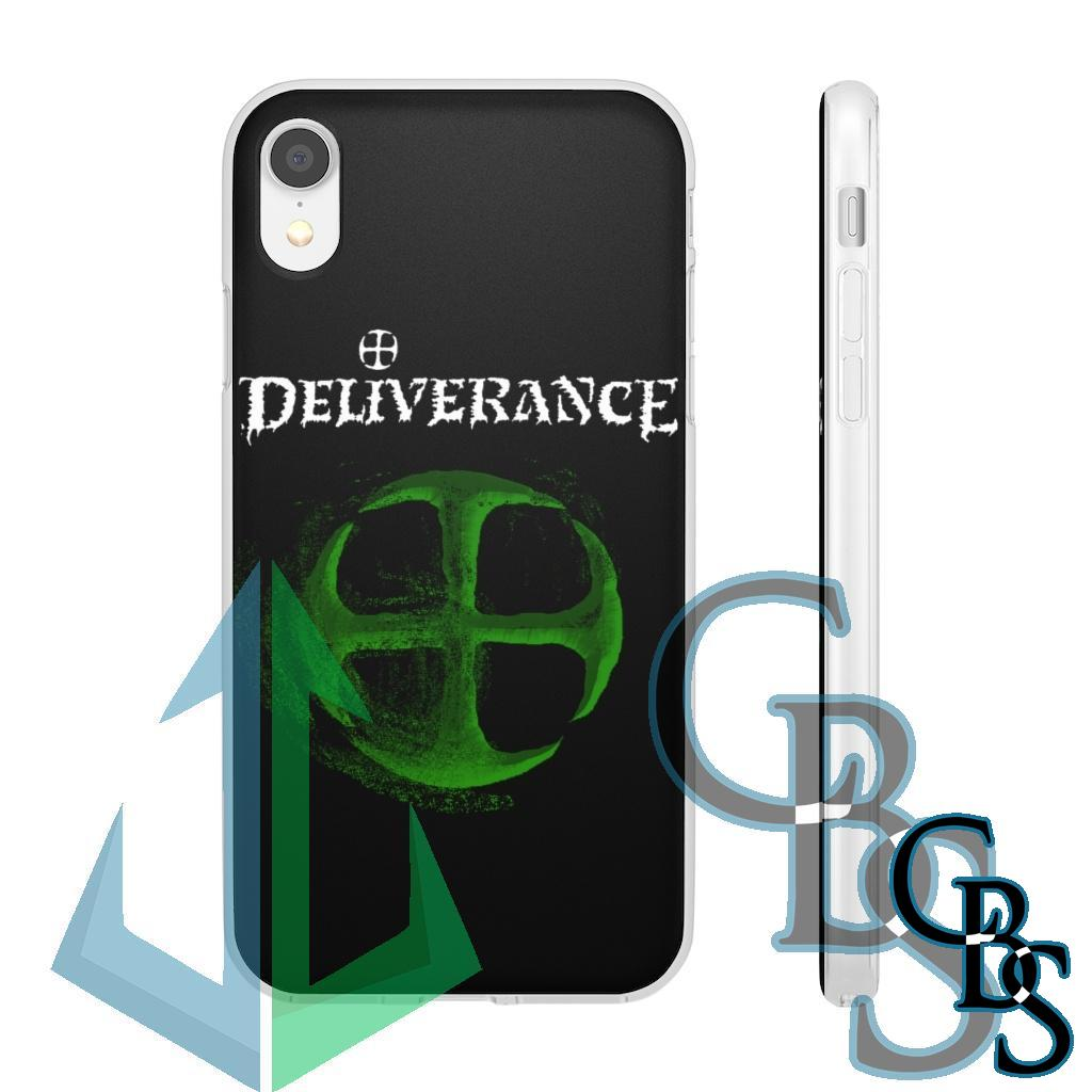 Deliverance Disintegrating Cross Green Clear Edge TPU Case for Samsung S10 and iPhone 7 thru Iphone 11 Pro Max