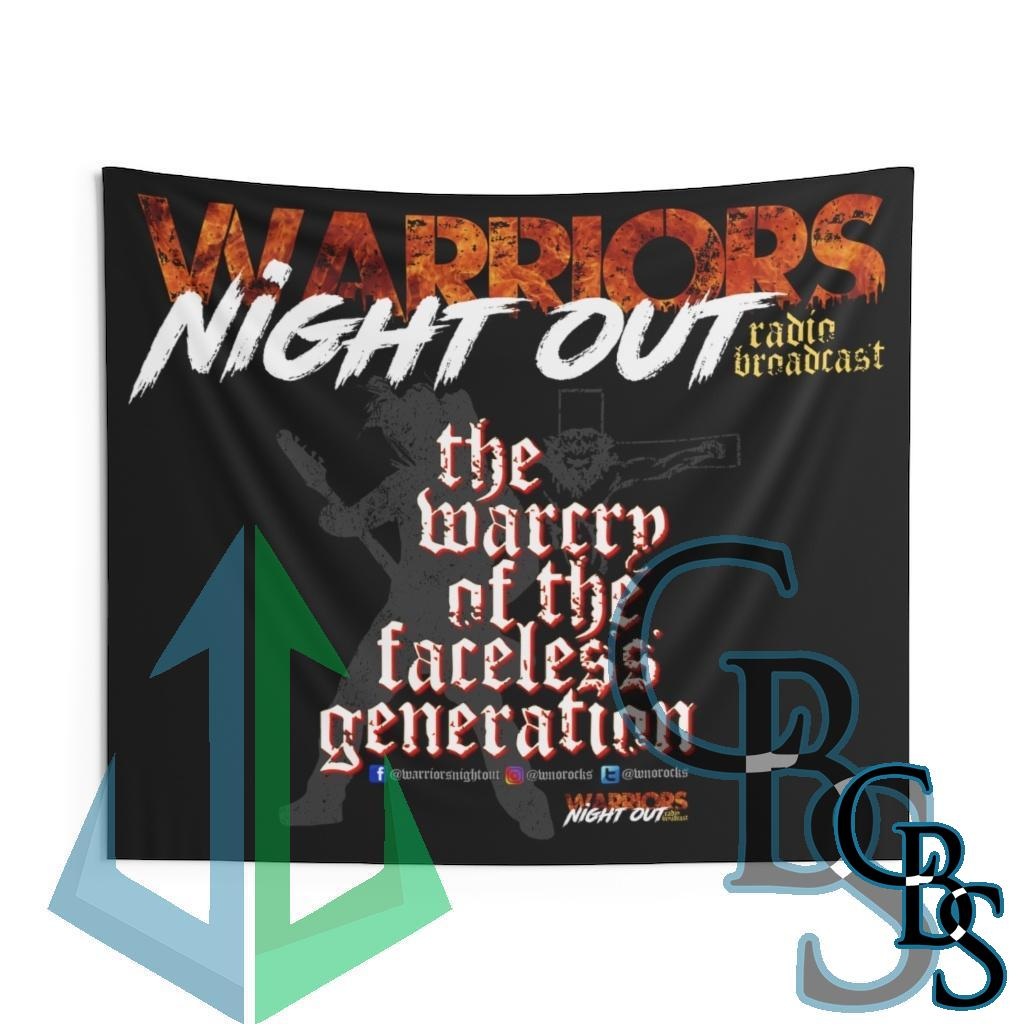Warriors Night Out Indoor Wall Tapestries