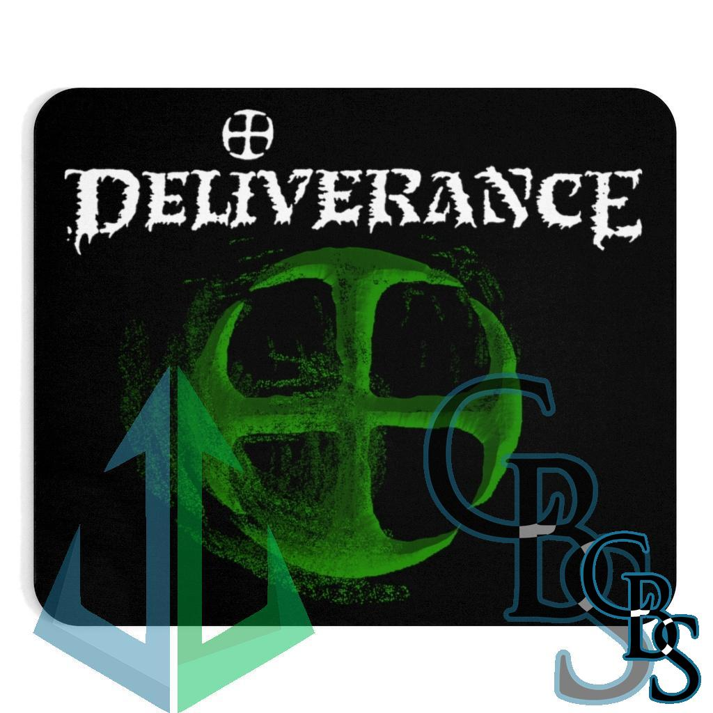 Deliverance Disintegrating Cross Green Mouse Pad
